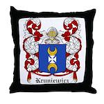 Kruniewicz Coat of Arms Throw Pillow