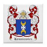 Kruniewicz Coat of Arms Tile Coaster