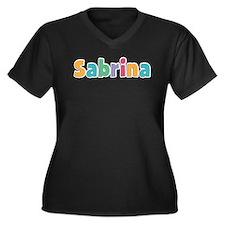 Sabrina Women's Plus Size V-Neck Dark T-Shirt