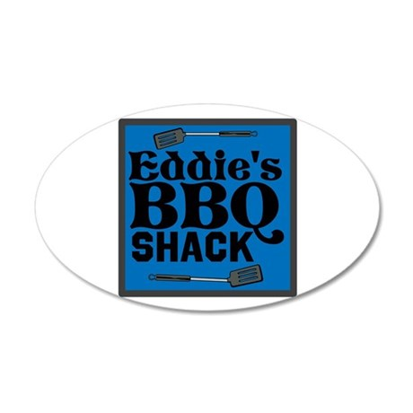 Personalized BBQ 20x12 Oval Wall Decal