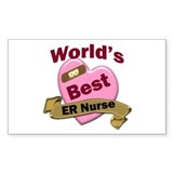 Cute Worlds best er nurse Decal