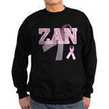 ZAN initials, Pink Ribbon, Jumper Sweater