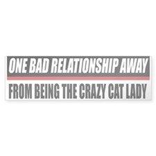 Crazy Cat Lady Bumper Bumper Sticker