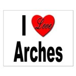 I Love Arches Small Poster