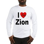 I Love Zion (Front) Long Sleeve T-Shirt