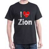 I Love Zion (Front) Black T-Shirt