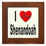 I Love Shenandoah Framed Tile