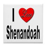 I Love Shenandoah Tile Coaster