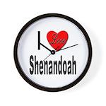 I Love Shenandoah Wall Clock