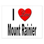 I Love Mount Rainier Small Poster
