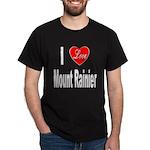 I Love Mount Rainier (Front) Black T-Shirt