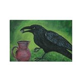 Crow and Pitcher Rectangle Magnet