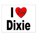 I Love Dixie Small Poster