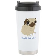 Bacon Pug Ceramic Travel Mug