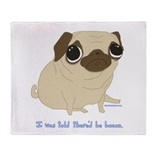 Bacon Pug Throw Blanket
