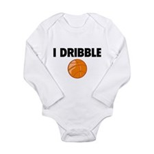 I Dribble Long Sleeve Infant Bodysuit