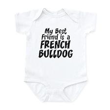 French Bulldog FRIEND Infant Bodysuit