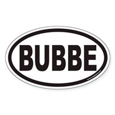 BUBBE Euro Oval Decal