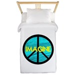 IMAGINE with PEACE SYMBOL.psd Twin Duvet