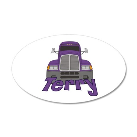 Trucker Terry 20x12 Oval Wall Decal