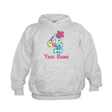 4th Birthday Tropical Hoodie
