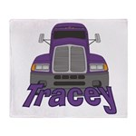 Trucker Tracey Throw Blanket
