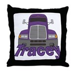Trucker Tracey Throw Pillow