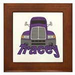 Trucker Tracey Framed Tile