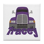 Trucker Tracey Tile Coaster