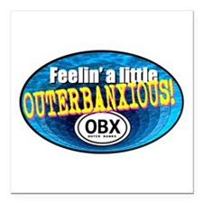 "OUTERBANXIOUS Square Car Magnet 3"" x 3"""