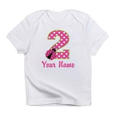 2nd Birthday Ladybug Pink Green Infant T-Shirt