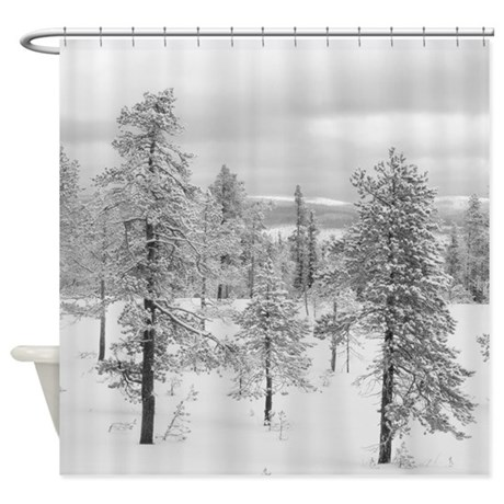 Shower Curtain - tree landscape by caitlin_