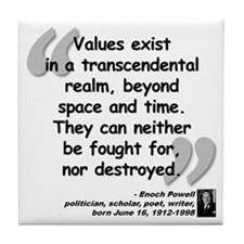 Powell Values Quote Tile Coaster