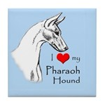 I Love My Pharaoh Hound Tile Coaster