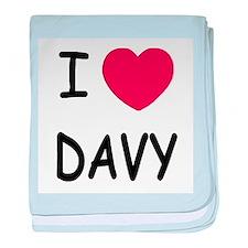 I heart DAVY baby blanket