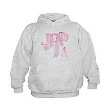 JCP initials, Pink Ribbon, Hoodie