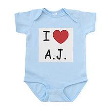 I heart A.J. Infant Bodysuit