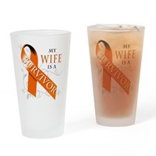 My Wife is a Survivor Drinking Glass
