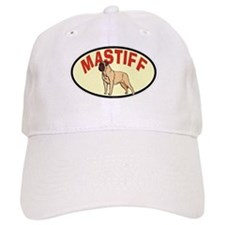 Oval Retro Mastiff Baseball Cap