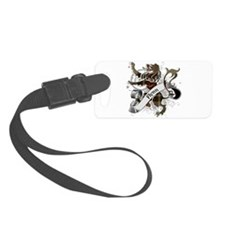 Flynn Tartan Lion Luggage Tag