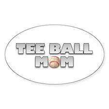 Tee Ball Baseball Mom Oval Decal