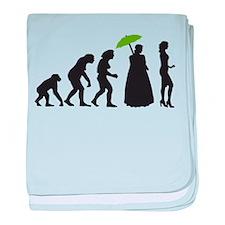 evolution woman baby blanket