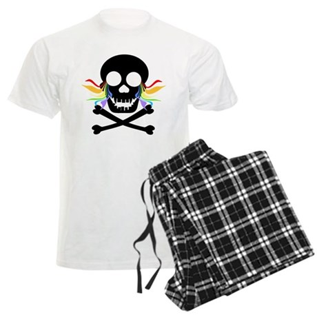 Black Skull Rainbow Tears Men's Light Pajamas