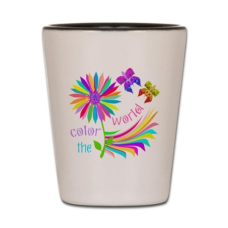 Color the World Shot Glass