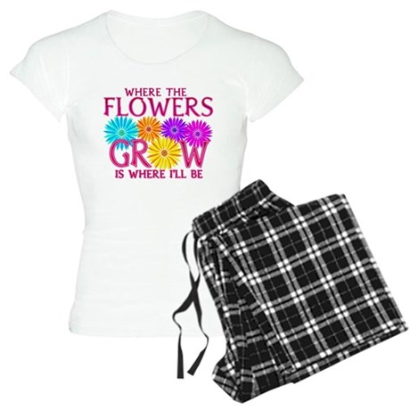 Where Flowers Grow Women's Light Pajamas