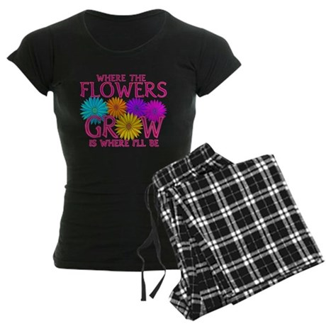 Where Flowers Grow Women's Dark Pajamas