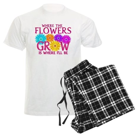 Where Flowers Grow Men's Light Pajamas