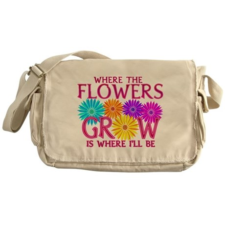 Where Flowers Grow Messenger Bag
