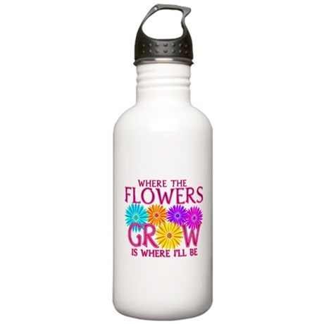 Where Flowers Grow Stainless Water Bottle 1.0L