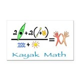 Kayak Math Rectangle Car Magnet